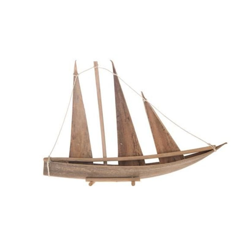 Boat coco shell Natural 50x6.5x35cm