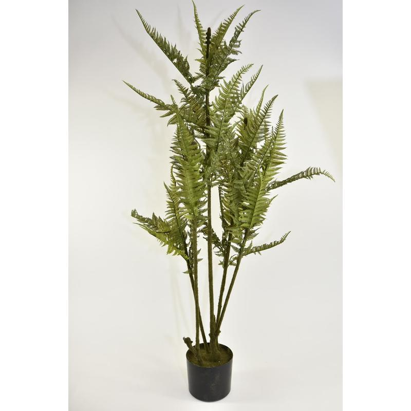 zijde kunstbloemen Leather fern tree w/pot 119cm